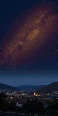 Michael Hulsch;Milchstraße; Blick von der Alm auf Lohr