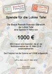 Spende Lohrer Tafel_1
