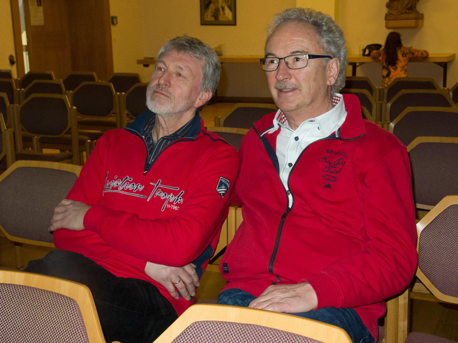 Auch Herbert und Klaus schauen zuversichtlich